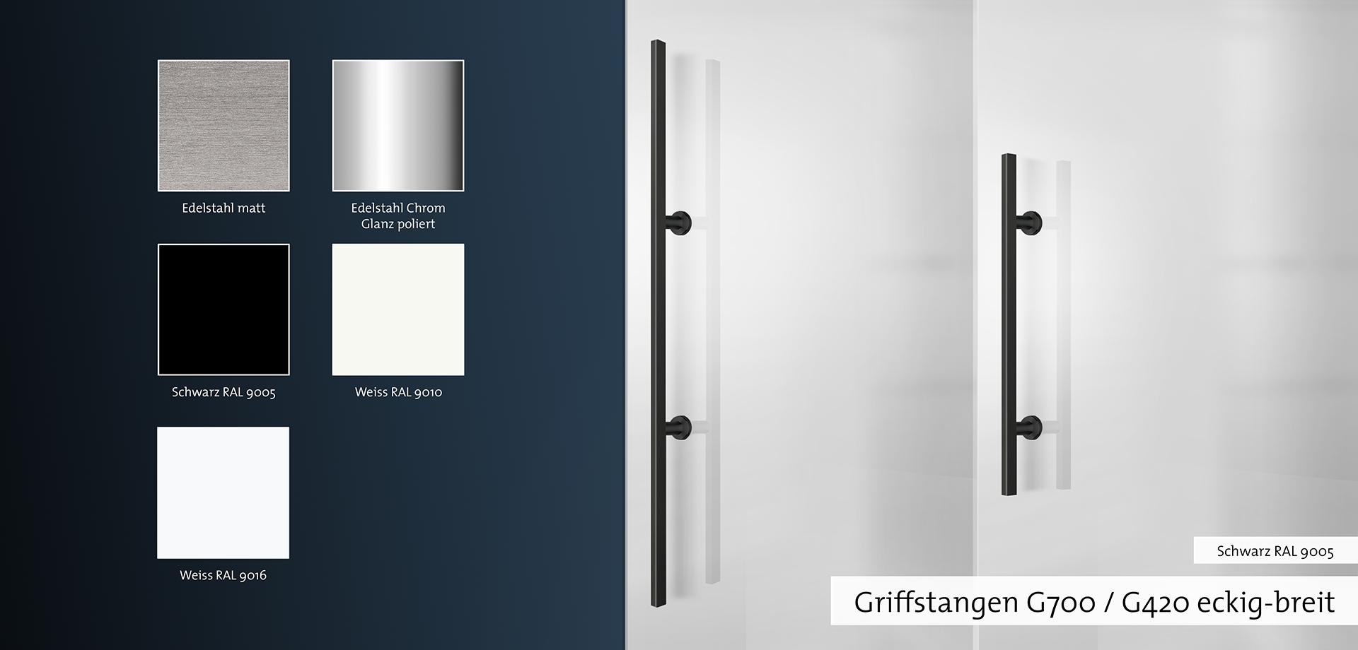 Griffstangen G700 / G420 eckig-breit